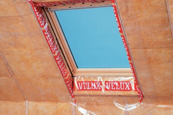 VELUX vapour barried installed in the roof