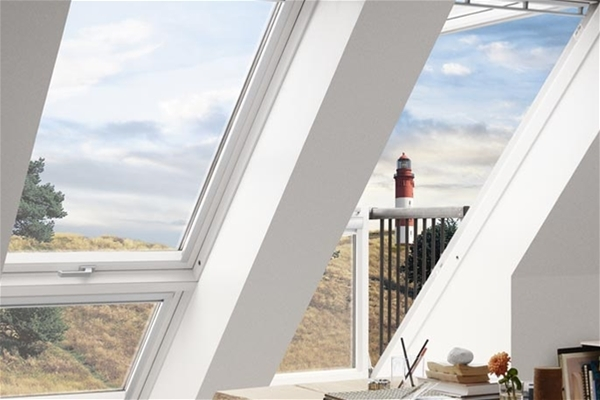 Velux Cabrio Gdl Pk19 Sd0l001 White Paint Single Balcony For Slate