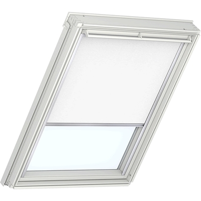 VELUX duo blackout blind in white