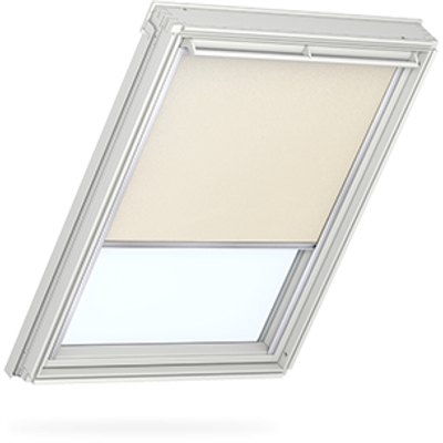 VELUX duo blackout blind in light beige