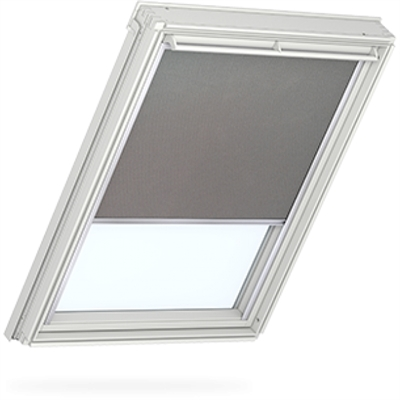 VELUX duo blackout blind in grey