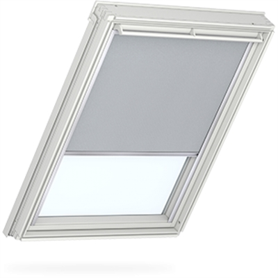 VELUX duo blackout blind in light grey
