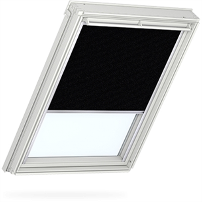 VELUX duo blackout blind in black