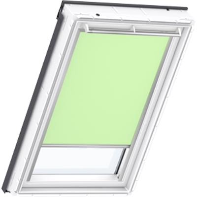 VELUX pale green blackout blind