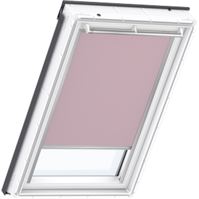 VELUX pale pink blackout blind
