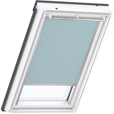 velux dkl mk06 4571 blackout blind light blue sterlingbuild. Black Bedroom Furniture Sets. Home Design Ideas