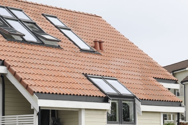 VELUX sloping and vertical combination from external viewing