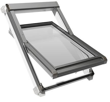 eco white pvc triple glazed centre pivot roof window. Black Bedroom Furniture Sets. Home Design Ideas