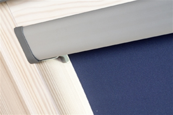 Blackout Blind 55x78cm Navy Blue ECO+ with White Sides