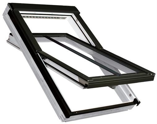 FAKRO PTP-V/C P2 07 Conservation White PVC Laminated Centre Pivot Roof Window 78x140cm