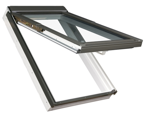 FAKRO PPP-V/C P2 02 Conservation White PVC Laminated Top Hung Roof Window 55x98cm