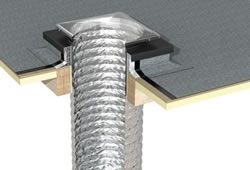 Flexible Sun Tunnel for Flat Roof