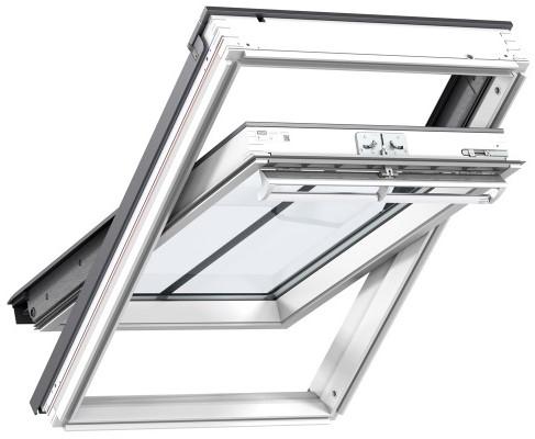 velux ggl fk06 2570h conservation white paint laminated centre pivot roof window 66x118cm. Black Bedroom Furniture Sets. Home Design Ideas