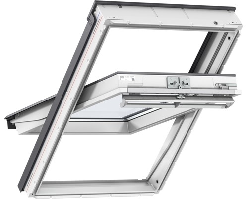 VELUX GGU CK04 0034 White PU Obscure Centre Pivot Roof Window 55x98cm
