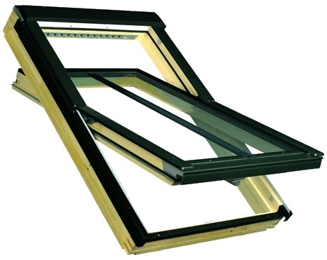 FAKRO FTP-V/C P2 08 Conservation Pine Centre Pivot Recessed Kit for Sheet Metal 94x118cm
