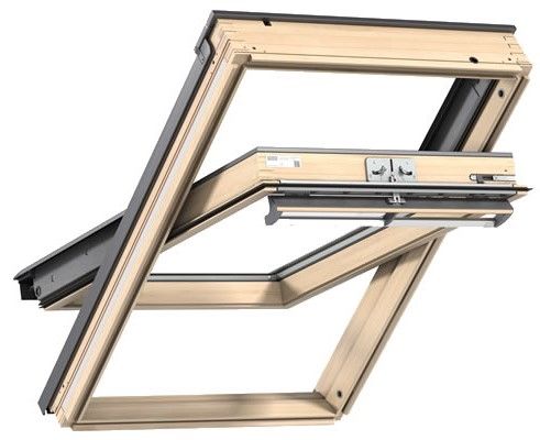 VELUX GGL PK08 3060 Pine Noise Reduction Centre Pivot Roof Window 94x140cm