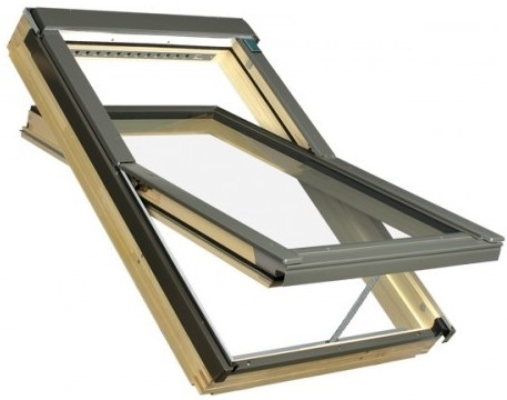 FAKRO FTP-V P5 Z-Wave 05 Pine Triple Glazed Electric Roof Window 78x98cm