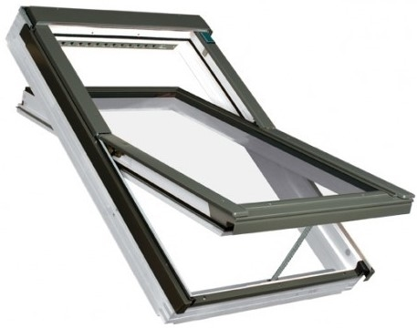 FAKRO FTW-V P5 Z-Wave 04 White Paint Triple Glazed Electric Roof Window 66x118cm