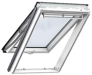 VELUX GPU 0034 White PU Obscure Top Hung Roof Window