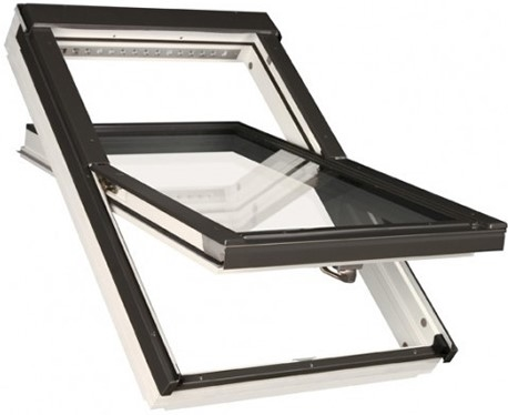 FAKRO FTT/W R3 80 White Paint Triple Glazed Noise Reduction High Pivot Roof Window 94x160cm