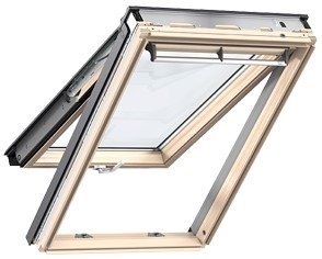 VELUX pine top hung roof window