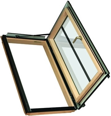 FAKRO FWR/C P2 15 Pine Conservation Laminated Right Side Hung Escape Roof Window 94x98cm
