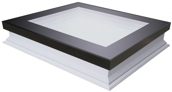 FAKRO DXF-D U8 120120 White PVC Quadruple Glazed Fixed Flat Roof Window 120x120cm