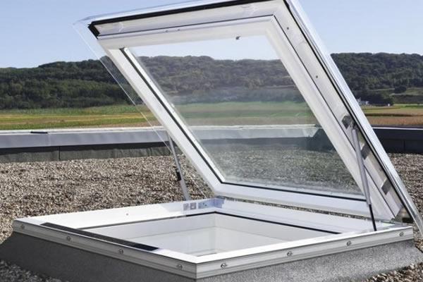 velux cxp 100100 s04g clear flat roof access window 100x100cm sterlingbuild. Black Bedroom Furniture Sets. Home Design Ideas