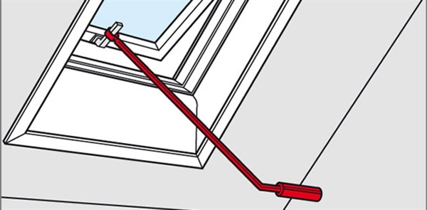 Velux zcz 112 control rod for top hung windows sterlingbuild for Velux skylight control rod