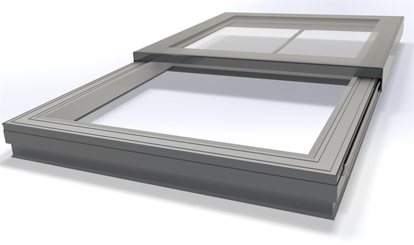Signature Electric Sliding Flat Glass Rooflight