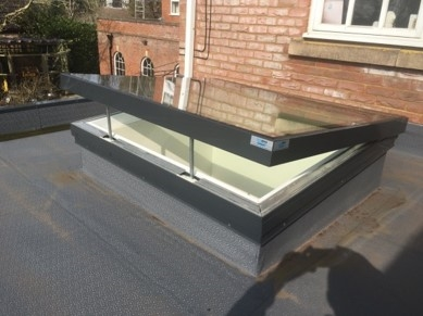 Signature Electric Hinged Flat Glass Rooflight
