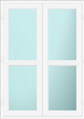Sterlingbuild White uPVC French Doors with White Midrail