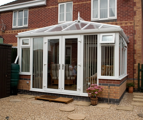 Sterlingbuild White Upvc French Doors With Side Lights And Midrail