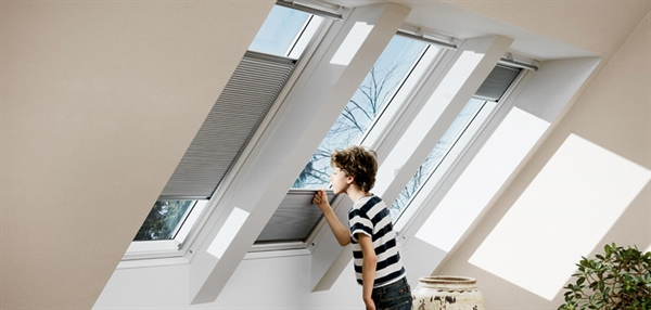 VELUX electric light dimming energy blind