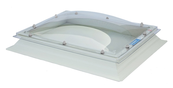Fixed Dome Triple Skin with Vents & 30cm ECO Splayed Kerb 80x110cm