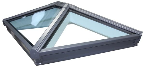 Korniche Glass Lantern Rooflight with Ambi Clear Tint & Black/White 200x350cm