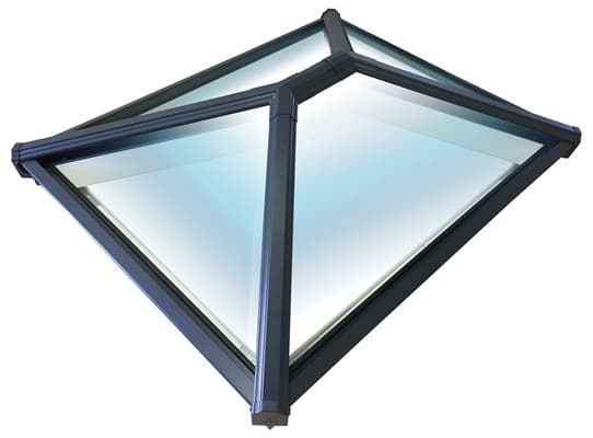 Korniche Glass Lantern Rooflight with Ambi Blue Tint & Grey/White 150x250cm