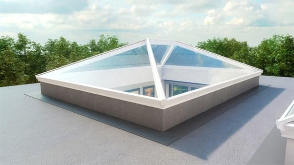 Korniche Glass Lantern Rooflight with Ambi Blue Tint & Black/White 200x300cm