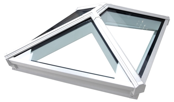 Korniche Glass Lantern Rooflight with Sunshade Blue Tint & White External/White Internal 150x200cm