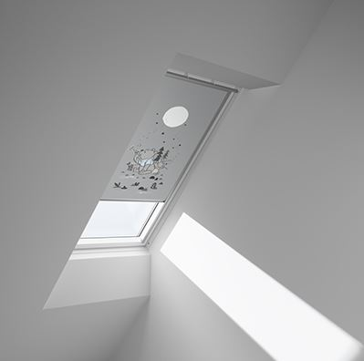 Disney & VELUX DKL UK04 4664 Blackout Blind - Winnie Dandelion