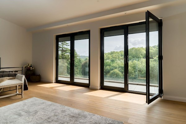 Real Aluminium French Doors In Whitewhite 1400x1800mm Sterlingbuild
