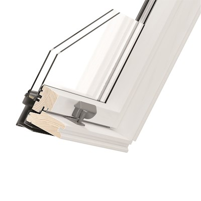 RoofLITE CORE AAX B510 M6A White Paint Centre Pivot Roof Window 78x118cm