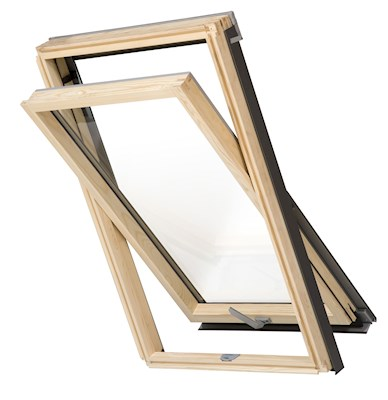 RoofLITE HIVE Slimline DPX B500 M8A Pine Centre Pivot Roof Window 78x140cm