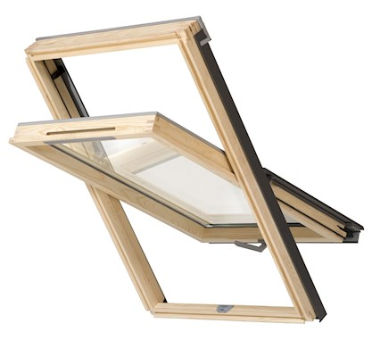 RoofLITE NITO Slimline DVX B500 M8A Vented Pine Centre Pivot Roof Window 78x140cm