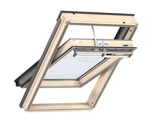 VELUX INTEGRA GGL Pine inside open
