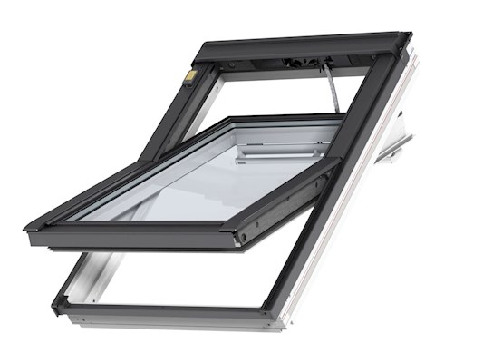 VELUX INTEGRA GGL Electric white outside open