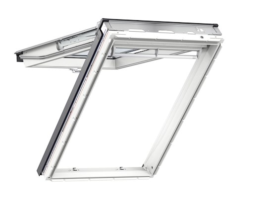 VELUX GPU White PU Top hung inside open