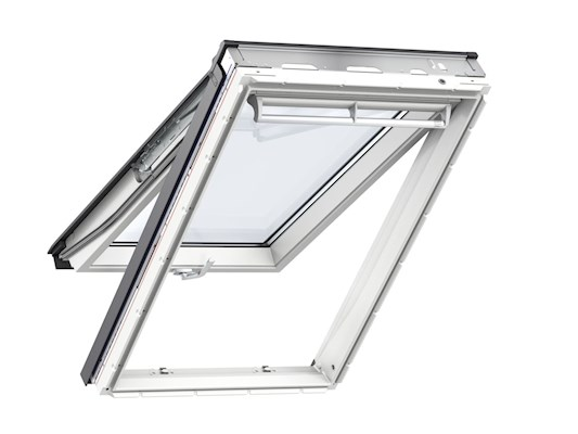 VELUX GPU White PU top hung open inside