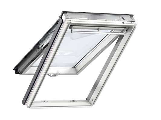 VELUX GPL White paint top hung open inside