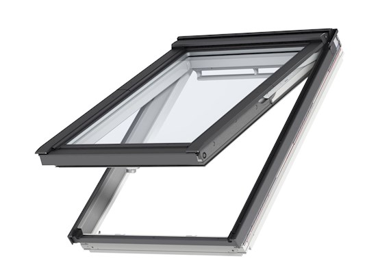 VELUX GPL White paint top hung open outside